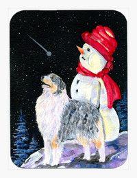 Australian Shepherd Mouse Pad / Hot Pad / Trivet
