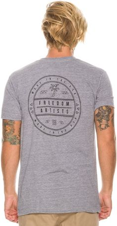 Freedom Artists Labeled SS Tee. http://www.swell.com/New-Arrivals-Mens/FREEDOM-ARTISTS-LABELED-SS-TEE?cs=HG