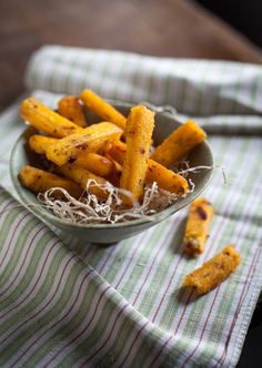 Crispy polenta fingers with herbs and sun-dried tomatoes