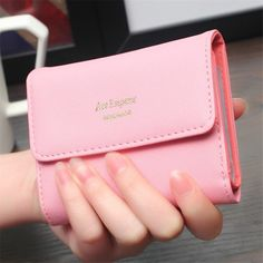 Wallet Female 2016 Fashion Lady Women Wallets Purses Cute Multi-function PU Leather Bags Hasp Coin Purse Short Card Holder B614 -- Read more reviews of the product by visiting the link on the image.
