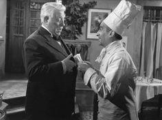 "Diapo Louis de Funès ""Le Gentleman d'Epsom"", en 1962, avec Jean Gabin."