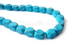 1 Strand Turquoise Blue Rectangular Faceted Howlite by Margelbeads Handmade Jewelry, Unique Jewelry, Handmade Gifts, Turquoise Bracelet, Beads, Trending Outfits, Bracelets, Blue, Etsy