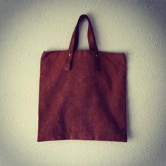 Brown bag handmade handbag unisex sakabukuro by EthicalLifeStore