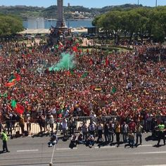 Scenes in Portugal right now! Messi, Portugal Football Team, We Are The Champions, Cristiano Ronaldo, Champions League, Real Madrid, Fifa, Dolores Park, Amazing