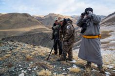 Team from WWF look for signs of a snow leopard. During the past 30 years, the region's average annual temperature has risen by 3.8 degrees Fahrenheit (2.1 degrees Celsius).  The result: a desertifying landscape with degraded lower-altitude pastures that have traditionally nourished herders' sheep and goats. It's so bad that around a quarter of the country has turned into desert, while some 850 lakes and 2,000 rivers have completely dried out over the past 30 years.