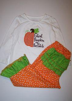 Cutest pumpkin in the patch Pumpkin outfit Fall by LittleQTCouture, $36.95
