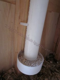 The Chicken Chick®: My PVC Chicken Feeder. DIY instructions! http://www.the-chicken-chick.com/2011/05/my-pvc-chicken-feeder-diy-instructions.html