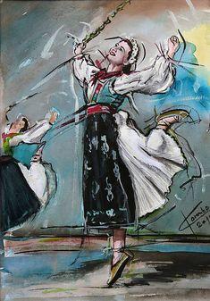 pucik / Vítanie jari Dark Nails, Serbian, Eastern Europe, Westerns, Traditional, Retro, Anime, Painting, Inspiration