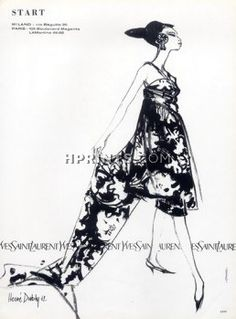 aa83ebefdbf Image result for Fashion illustration + YVes Saint Laurent