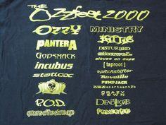 Ozzfest 2000 Lineup https://www.tsu.co/eatnails