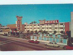 Unused Pre-1980 OLD CARS & IMPERIAL 400 MOTEL Long Beach California CA n9550