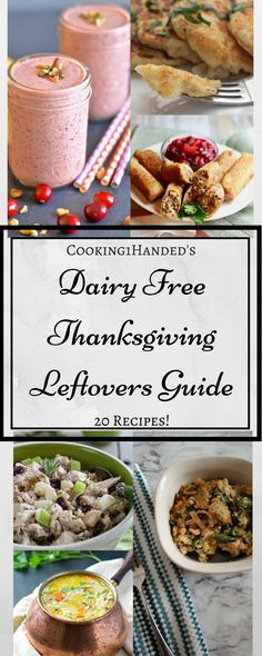 Say hello to dairy free recipes for Thanksgiving leftovers! We have everything from turkey egg rolls, a leftover stuffing casserole bake, and epic sandwich ideas. Delicious soups for the instant pot, leftover mashed potato pancakes, even the cranberry sauce gets made into a smoothie for breakfast.