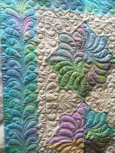 simple pattern with wonderful quilting