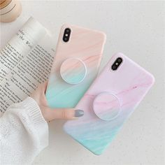 Gradient Marble Case Gradient Colorful Texture marble Matte soft Phone case For iPhone 7 8 Plus 6 X XS Max XR Also the Iphone 11 and 11 Pro max Girly Phone Cases, Pretty Iphone Cases, Diy Phone Case, Iphone Phone Cases, Iphone Case Covers, Iphone 7, Matching Phone Cases, Iphone Charger, Ipod Cases