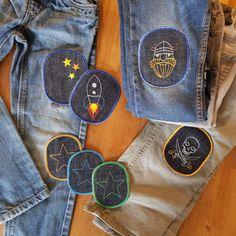 2 Jeansflicken eckig 5,9 cm x 9 cm Bügelflicken Reparatur Flicken  Jeans