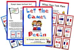 Printable Games for kids for the Olympics