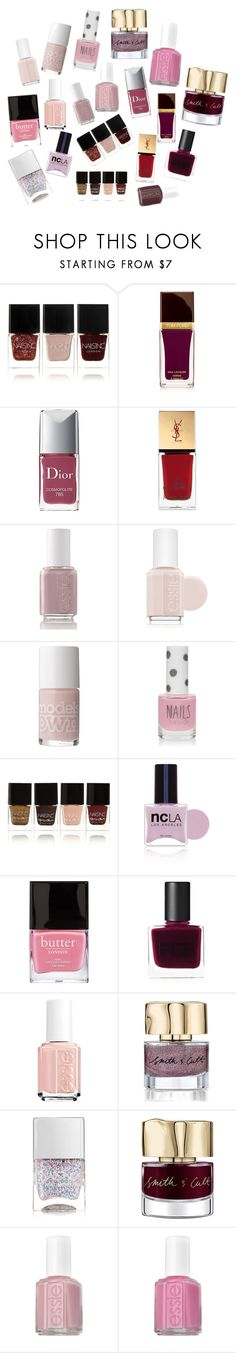 """For The Girl Who Loves Nail Polish"" by b-arose on Polyvore featuring beauty, Nails Inc., Tom Ford, Christian Dior, Yves Saint Laurent, Essie, Models Own, Topshop, ncLA and Butter London"
