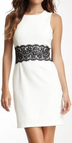 Love Stitch white Lace Dress // women fashion outfit clothing style apparel @roressclothes closet ideas