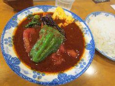 澄川6条4『木多郎』野菜エッグ このスープの感じがイイですねぇ〜。具材は、ピーマン・ホールトマト・ナス・ニンジン・菜の花・オムレツです。  Google+