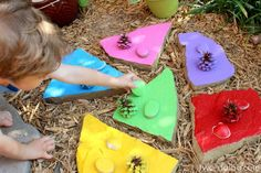 Outdoor Color Matching for Toddlers - Twodaloo