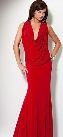 87a9d3aad07 Sexy Long V-neck Natural Elastic woven satin Sleeveless Prom Dress