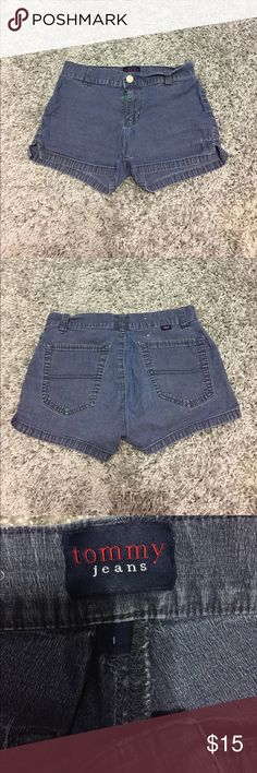 Vintage Tommy shorts Tommy jean shorts. In worn condition. Have a fray close to the thigh (shown in pic) offers welcome Tommy Hilfiger Shorts Jean Shorts