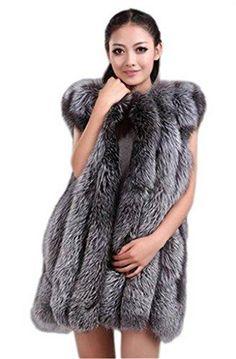 Silver Fox Fur Vest Real Fur Vest, Fox Fur Vest, Fur Gilet, Fur Waistcoat, Canada Goose Women, Coats For Women, Clothes For Women, Warm Autumn