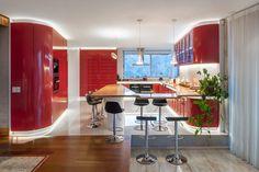 Casa Chamisero by GITC Architecture House Design, House, Kitchen Design Trends, Home, Kitchen Designs Layout, Contemporary Kitchen, Red Kitchen, Latest Kitchen Designs, Kitchen Design