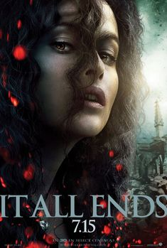 """Harry Potter and the Deathly Hallows: Part 2 - """"It all ends here."""" Bellatrix [Poster design by WORKS ADV]"""