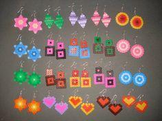 Earrings hama beads by ChiA CReaTioNS