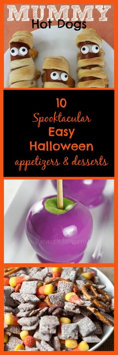 10 EASY Spooktacular Halloween Appetizers & Desserts that won't take all day to make!