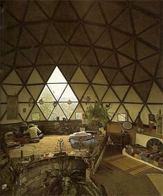 Because the future in the 70's was trying to look like this. Geodesics and earth tones. Hippie-futurism. Back to nature with Buckminster Fuller?