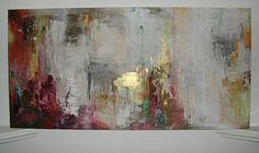 Mia Marsh painting art work gold red modern absrtact