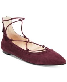INC International Concepts Women's Zachh Lace-Up Flats, Only at Macy's | macys.com