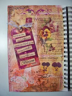 Love the colours and tag in this #art #journal page
