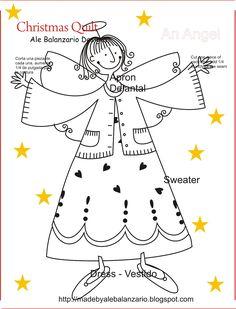 Christmas Quilt, An Angel!