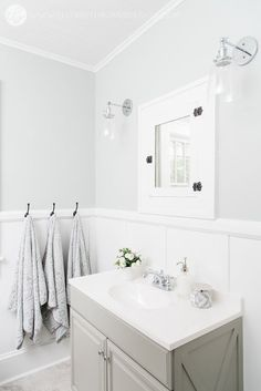 agreeable gray bathroom. House Flipping  Avenue Bathroom Before Afters Guest Bath After Grey vinyl flooring Agreeable gray and