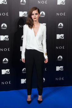 Emma Watson at the Madrid Noah premiere.