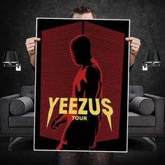 Yeezus Tour Masked Lines Poster