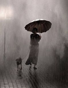 """Saul Leiter, Raining On Two, 1957 """