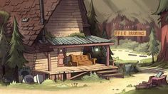 Gravity Falls S1E4 background art