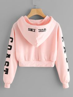 Abigail East Coast Pink Cropped Hoodie Sweater in Baby Pink Cute Casual Back to School Outfit Ideas 2018 for Teen Girls 2018 – East Coast Queens Sweater Hoodie Hoody in Baby Pink – Lindas ideas casuales de regreso a la escuela – www. Teen Fashion Outfits, Mode Outfits, Girl Fashion, Girl Outfits, Fashion Clothes, Style Fashion, Latest Fashion, Fashion East, Fashion Shops