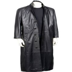 Charcoal Ebb Long Leather Coat for Men Mens Leather Coats, Long Leather Coat, Men's Leather Jacket, Leather Jackets, Real Style, My Style, Revival Clothing, The Right Man, Single Men