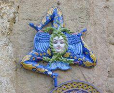 Trinacria, symbol of Sicily, Italy