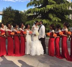 Graceful Red South Africa Bridesmaid Dresses 2017 V Neck Mermaid Maid Of Honor Gowns Black Girl Long Wedding Party Dresses Different Bridesmaid Dresses Gold Bridesmaids Dresses From Bridalee, $84.98| Dhgate.Com