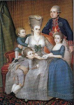1779 Willem V (1748-1806), prins van Oranje-Nassau, met zijn vrouw Frederika Sophia Wilhelmina van Pruisen en hun kinderen Frederica Louisa ...