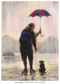 'Into everyone's life a little rain must fall' - Print by Jim Taylor.-