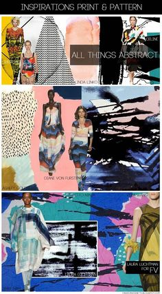 FASHION VIGNETTE: [ INSPIRATIONS PRINT + PATTERN ] KUKKA by Laura Luchtman - SS 2015 ALL THINGS ABSTRACT