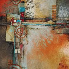Love the descriptions of the processes: Collage art of Laura Lein-Svencner: Layering Process with Collage
