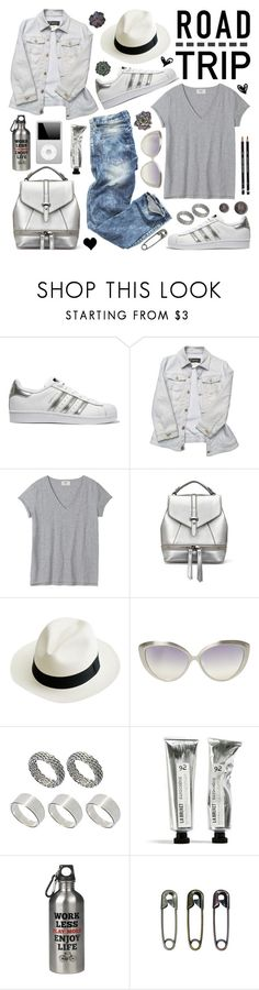 """""""Summer Road Trip Essentials"""" by helenevlacho ❤ liked on Polyvore featuring adidas Originals, Versace, J.Crew, Linda Farrow Luxe, ASOS, Wild & Wolf, roadtrip and contestentry"""